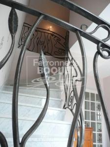 Rampe en fer forgé Art Nouveau